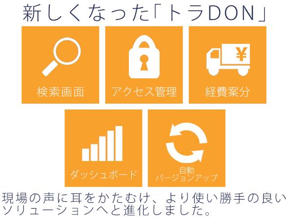 運送管理システム「トラDON」新バージョン イメージ